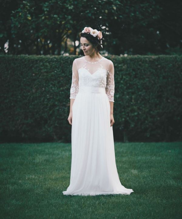 Picture Of gorgeous illusion necklines wedding dresses  21