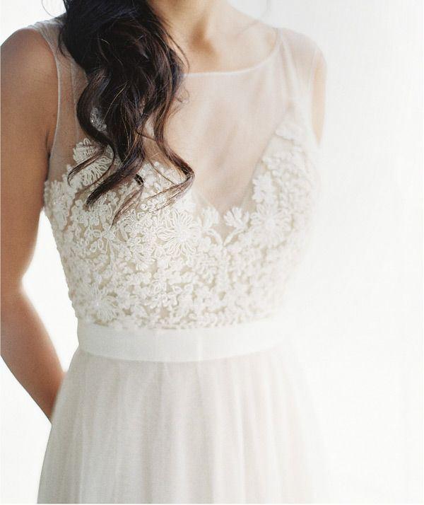 Picture Of gorgeous illusion necklines wedding dresses  22