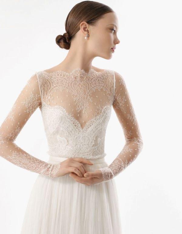 Picture Of gorgeous illusion necklines wedding dresses  3