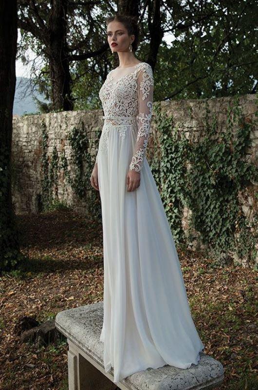 Picture Of gorgeous illusion necklines wedding dresses  5