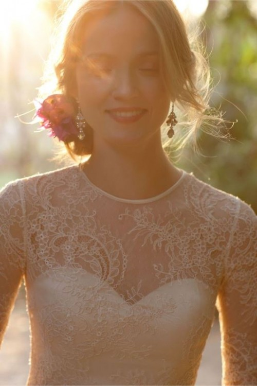 Gorgeous Illusion Necklines Wedding Dresses