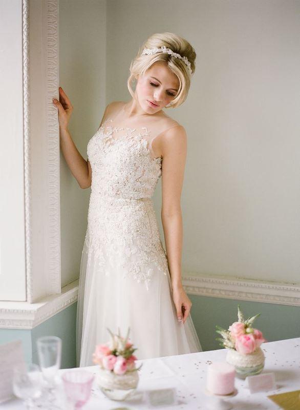 Picture Of gorgeous illusion necklines wedding dresses  7
