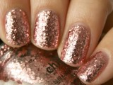 rose gold nails will finish off a bridal or bridesmaid look giving it a slight glam and sparkly touch
