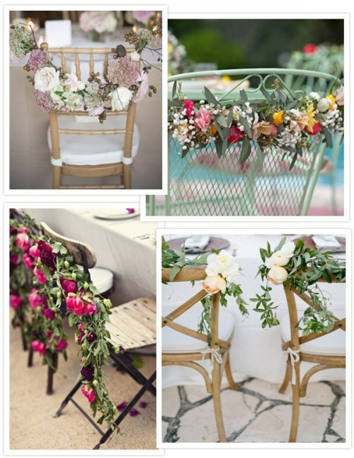 30 Ideas Chair Decor With Pretty Floral Swags And