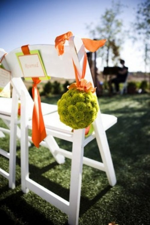 Ideas Of Chair Decor With Pretty Floral Swags And Posies