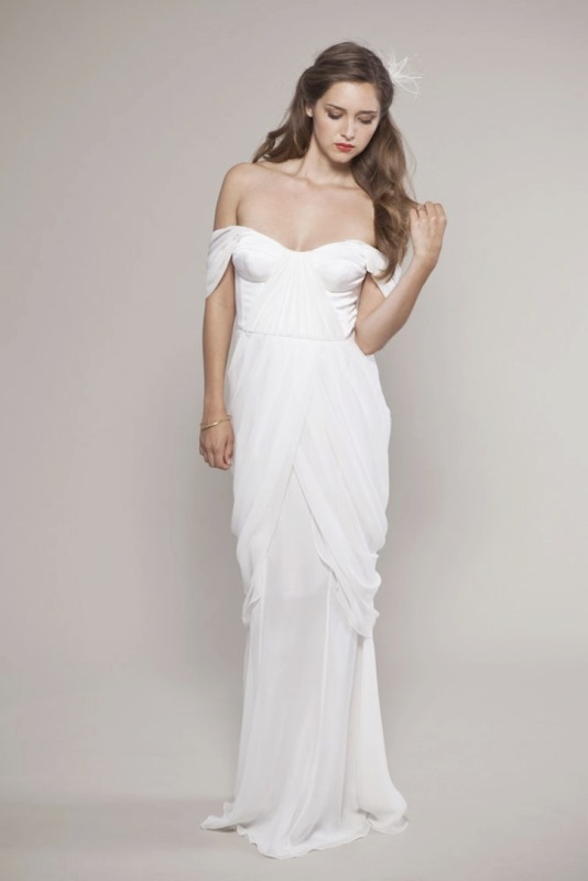 Picture Of magnificent off the shoulder wedding dresses  11