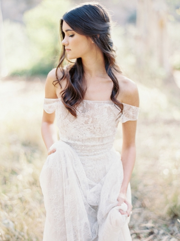 Picture Of magnificent off the shoulder wedding dresses  12