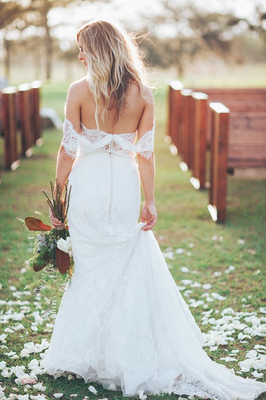 Picture Of magnificent off the shoulder wedding dresses  13