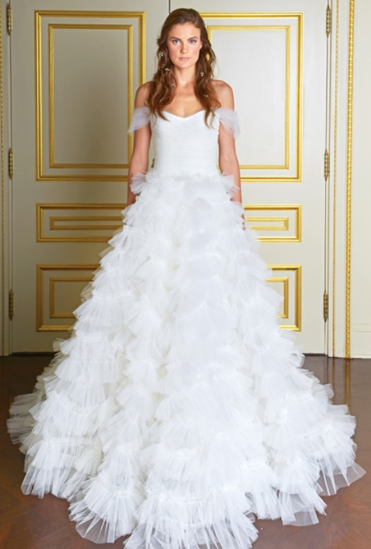 Picture Of magnificent off the shoulder wedding dresses  17