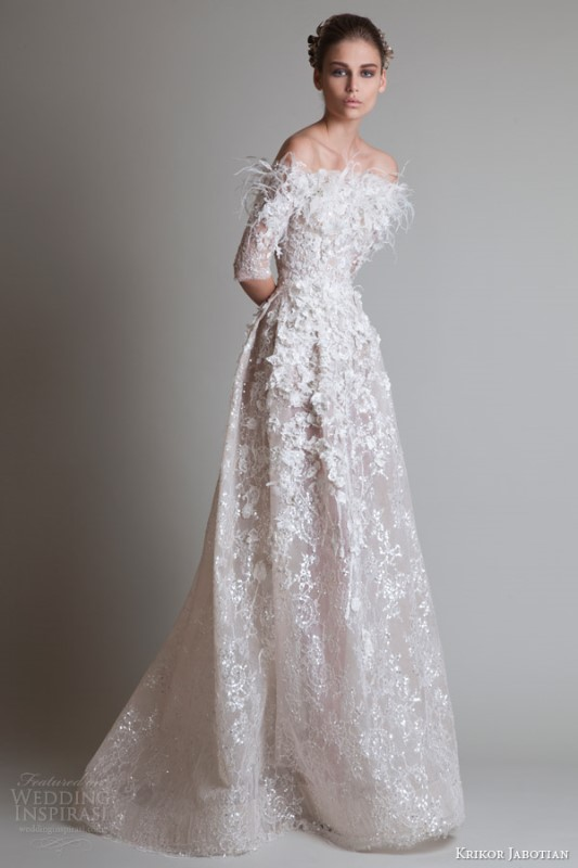 Picture Of magnificent off the shoulder wedding dresses  2