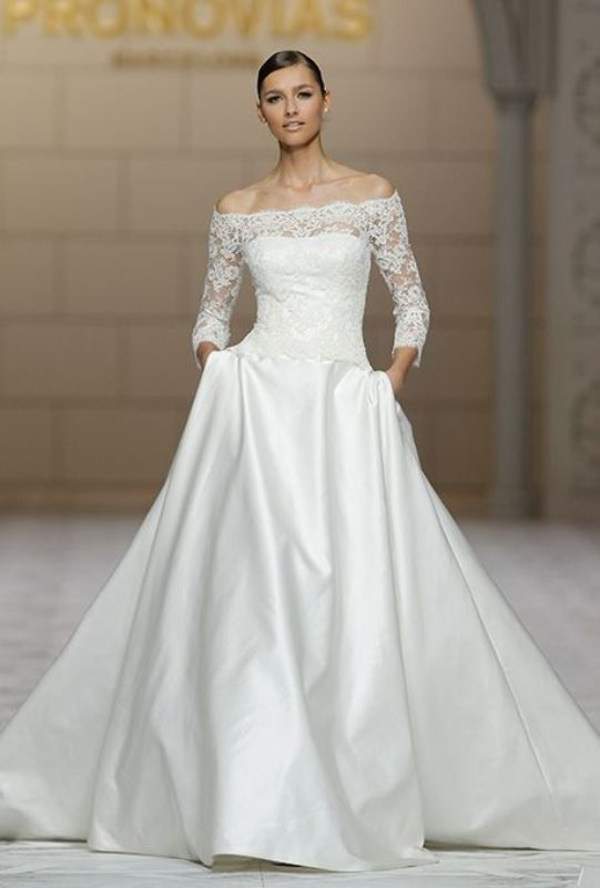Picture Of magnificent off the shoulder wedding dresses  20