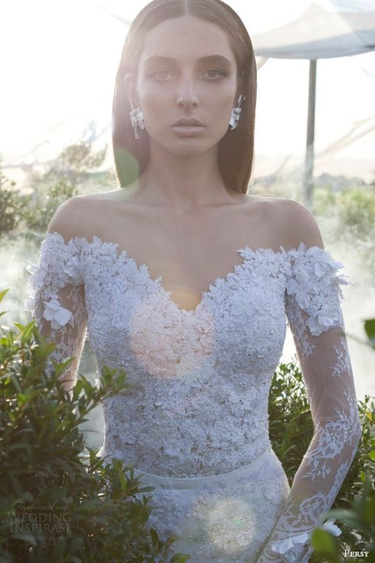 Picture Of magnificent off the shoulder wedding dresses  21