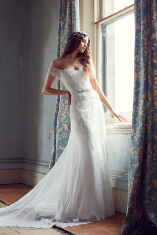 Picture Of magnificent off the shoulder wedding dresses  22