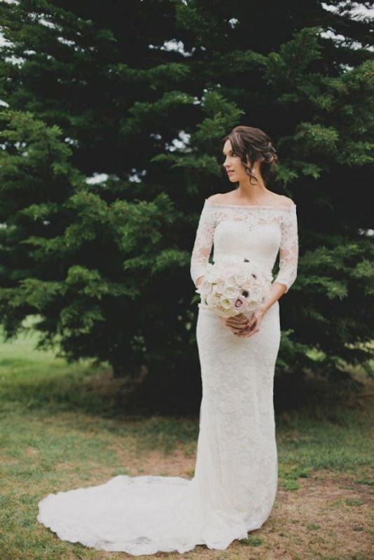 Picture Of magnificent off the shoulder wedding dresses  25