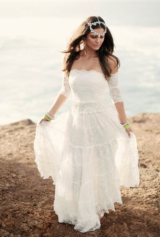 Picture Of magnificent off the shoulder wedding dresses  5