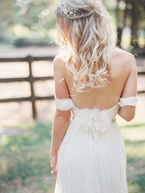 Picture Of magnificent off the shoulder wedding dresses  8
