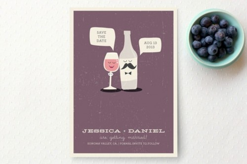 a fun purple wedding program or menu is a cool and creative idea with such fun prints