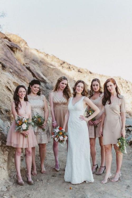 30 Most Beautiful Neutral Color Bridesmaids Dresses