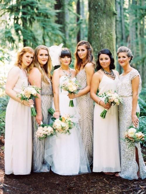 Most Beautiful Neutral Color Bridesmaids' Dresses