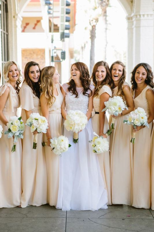 Picture Of Most Beautiful Neutral Bridesmaids Dresses 17