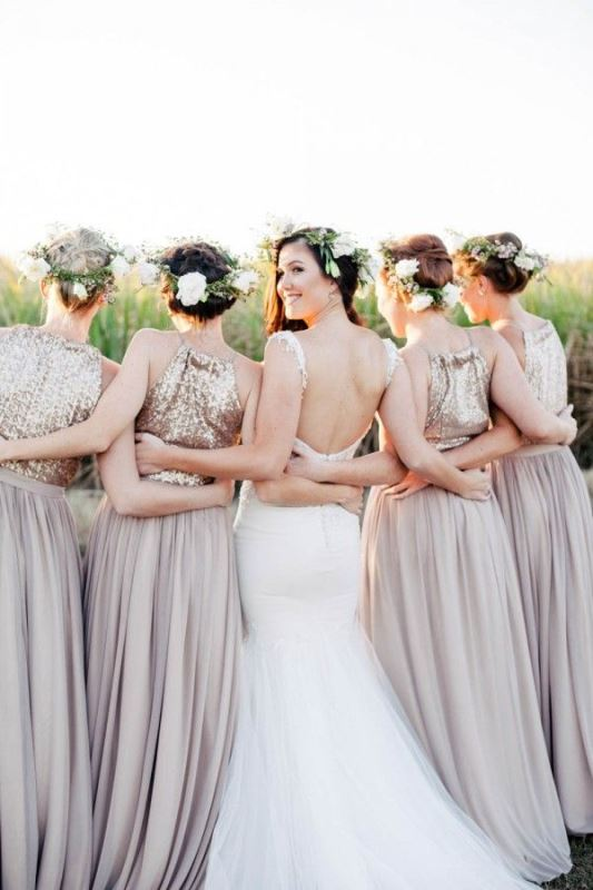 Picture Of most beautiful neutral bridesmaids dresses  19