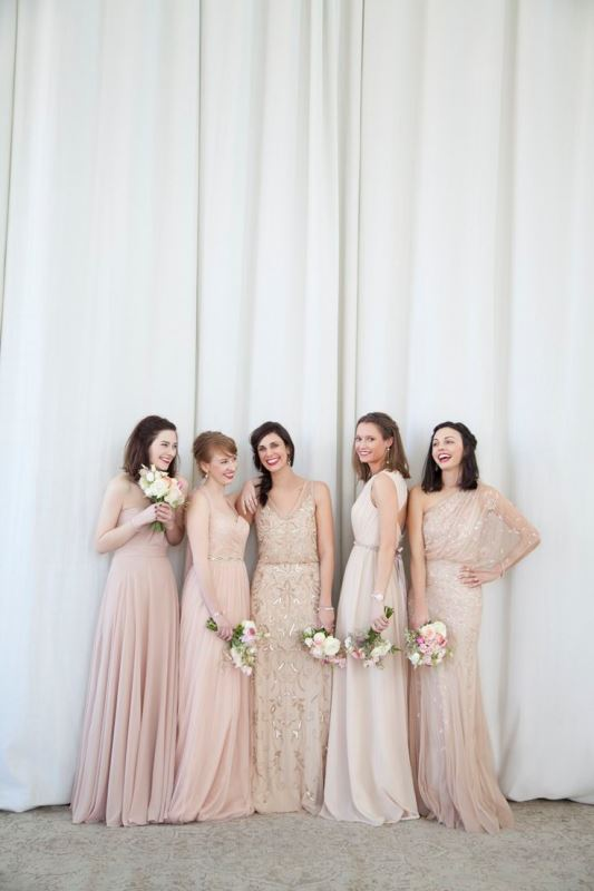 Picture Of most beautiful neutral bridesmaids dresses  7