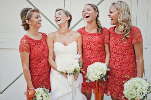 30 Pretty Lace Bridesmaid's Dresses Ideas