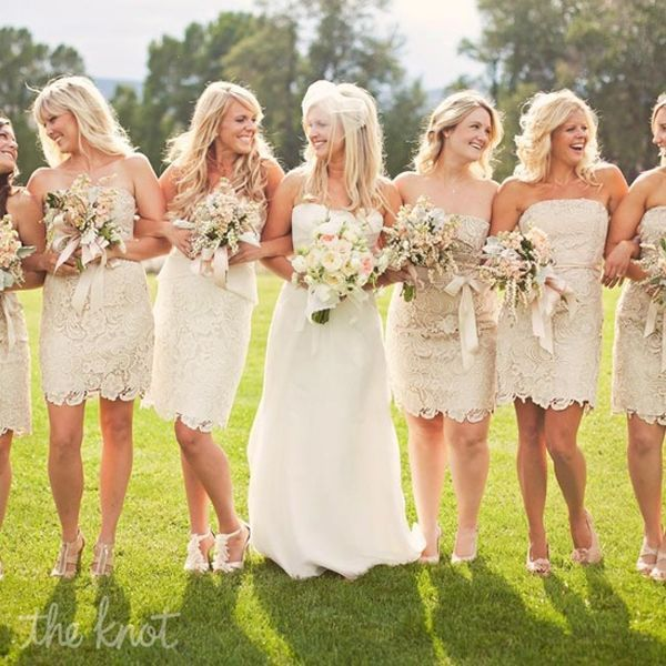 30 Pretty Lace Bridesmaid&-39-s Dresses Ideas - Weddingomania