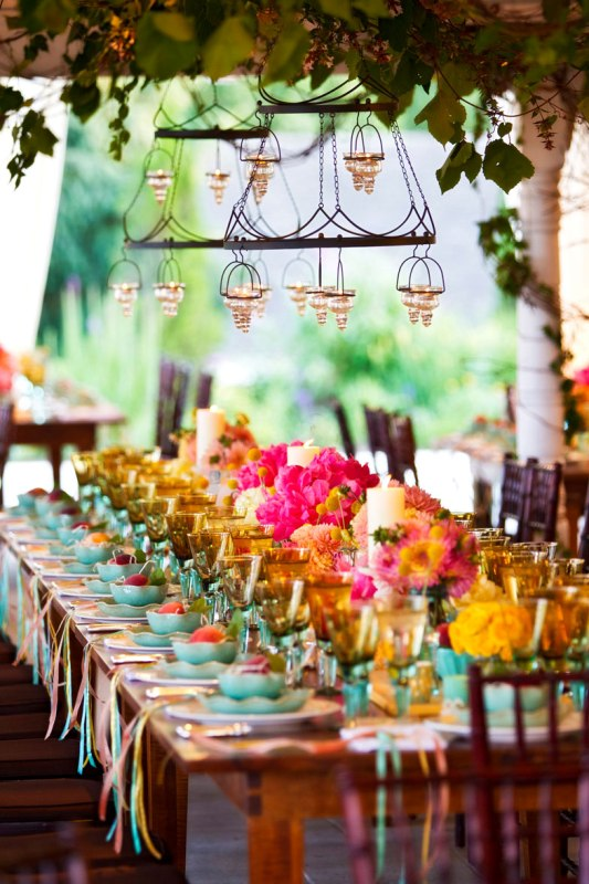 Table Centerpieces For Backyard Party : 30 Romantic And Whimsical Wedding Lightning Ideas And Inspiration