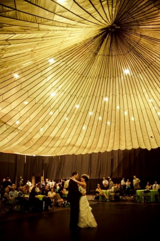 a fabric tent dome with lots of lights is a statement for your venue that will catch all the eyes