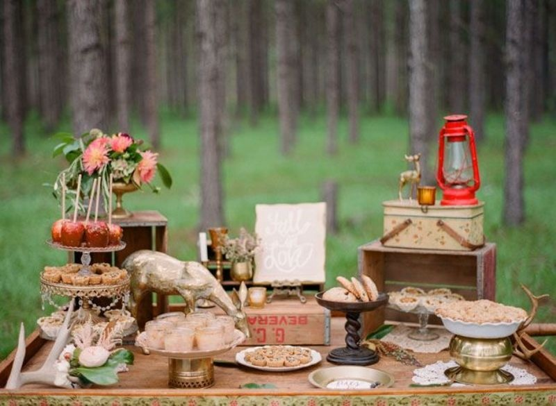 Picture Of Rustic Inspired Food Display Ideas With