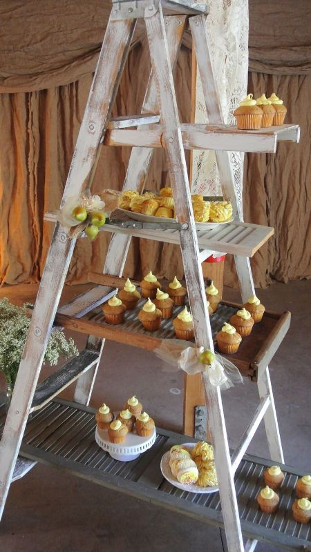 Picture Of Rustic Inspired Food Display Ideas With Tastiest Desserts