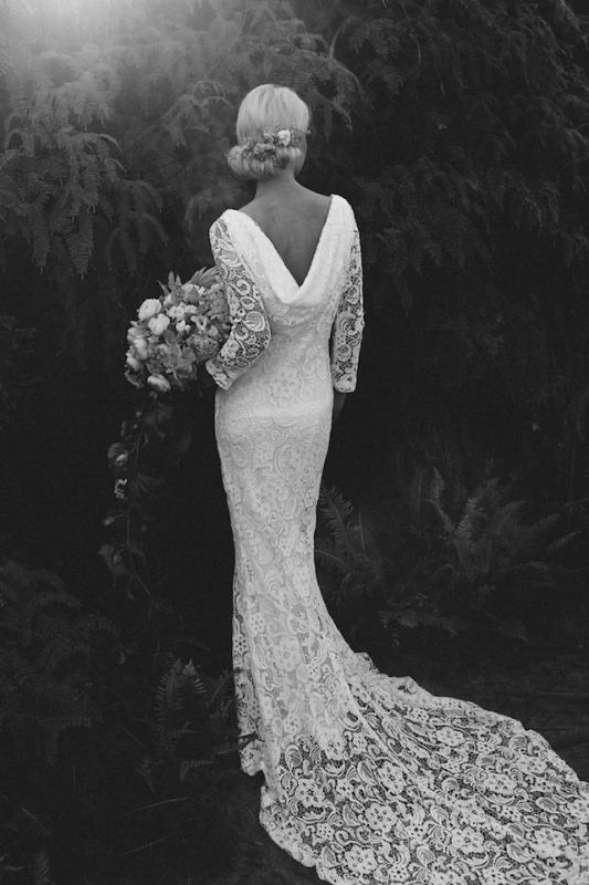 Picture Of stunning wedding dresses with trains  10