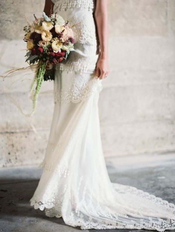 Picture Of stunning wedding dresses with trains  11