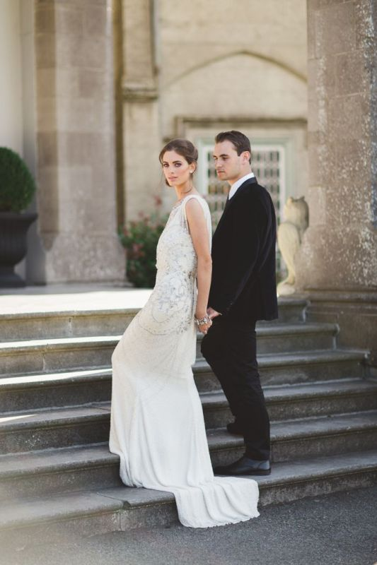 Picture Of stunning wedding dresses with trains  12