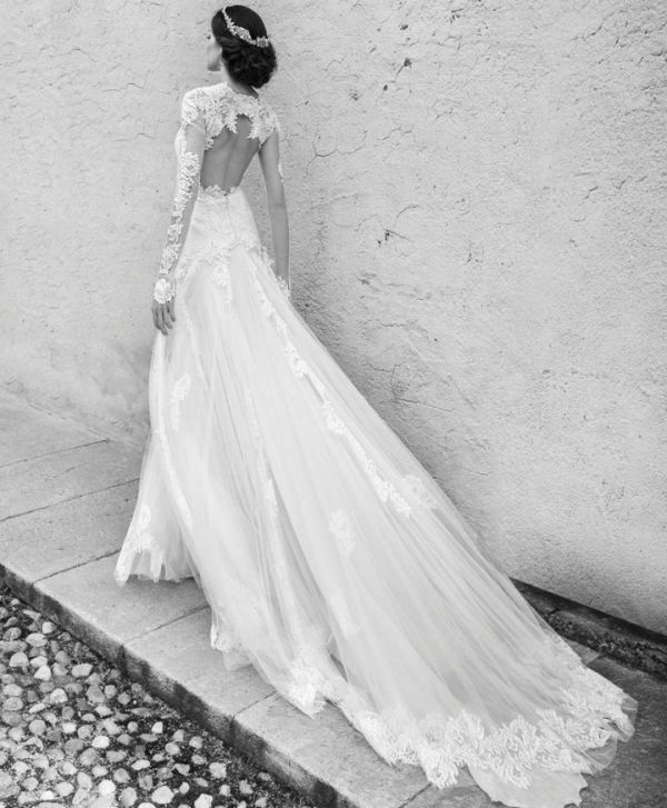 Picture Of stunning wedding dresses with trains  13