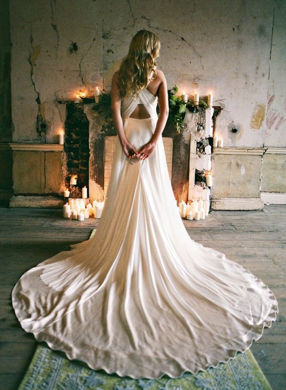 Picture Of stunning wedding dresses with trains  18