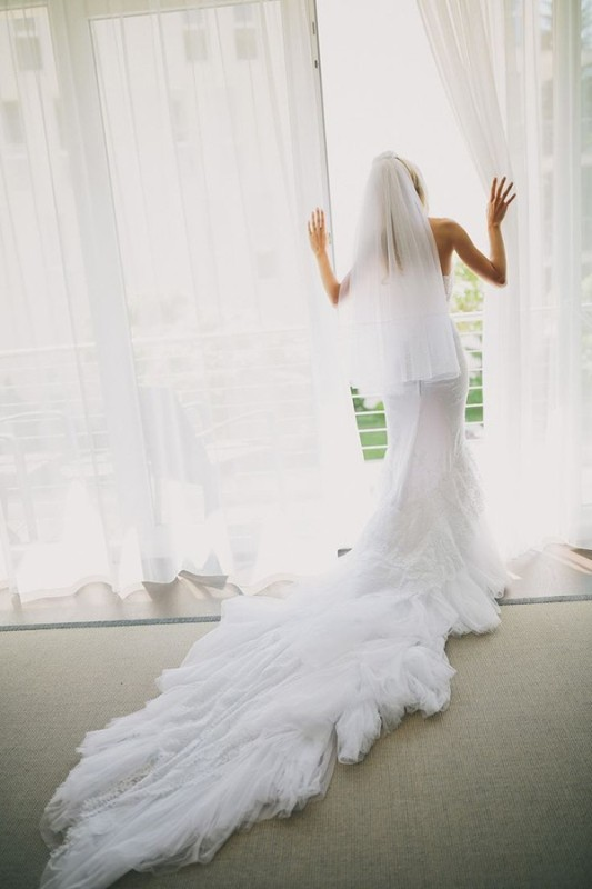 Picture Of stunning wedding dresses with trains  19