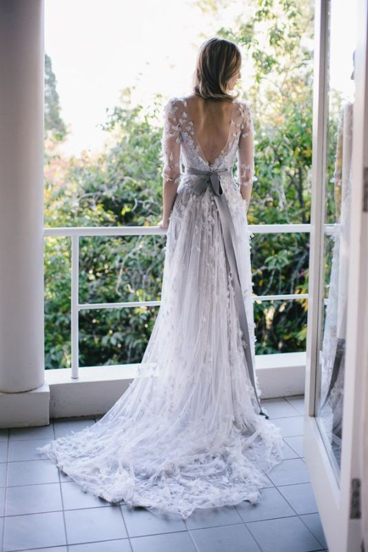 Picture Of stunning wedding dresses with trains  2