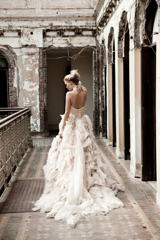 Picture Of stunning wedding dresses with trains 20