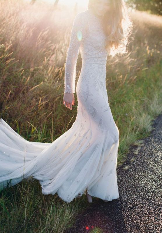 Picture Of stunning wedding dresses with trains  21