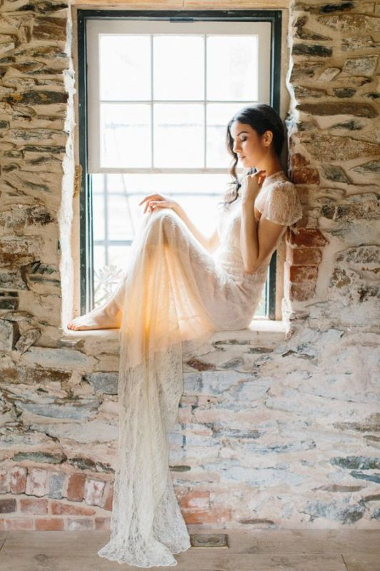 Picture Of stunning wedding dresses with trains  5