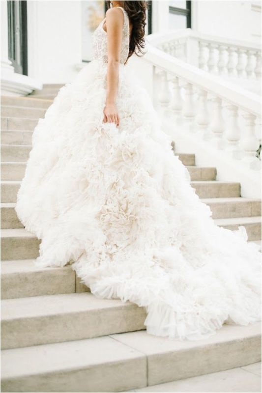Picture Of stunning wedding dresses with trains  6