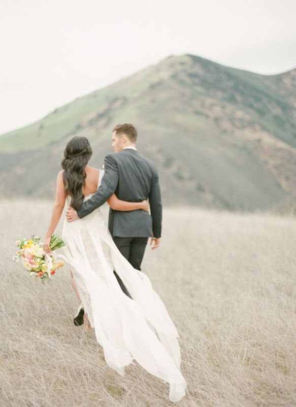 Picture Of stunning wedding dresses with trains  8
