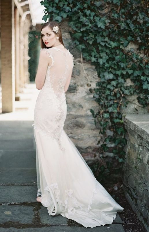 Picture Of stunning wedding dresses with trains  9