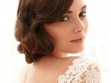 a chic updo with Hollywood waves for medium length hair will fit many bridal styles and looks