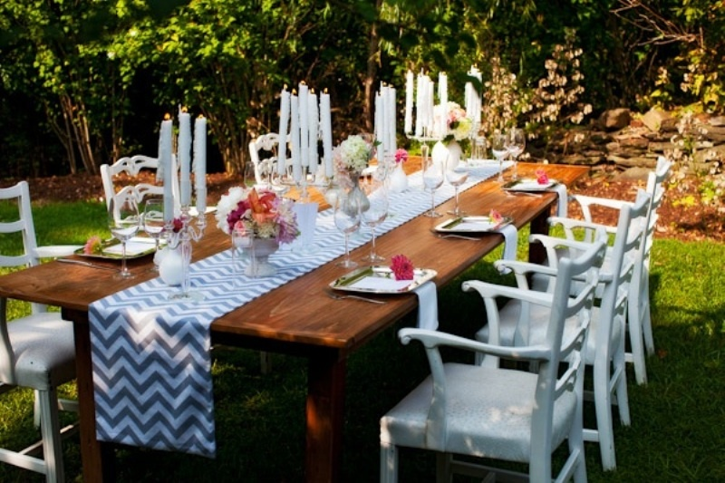 wedding table ideas runners table 30  runner table wedding wedding weddingomania reception pretty