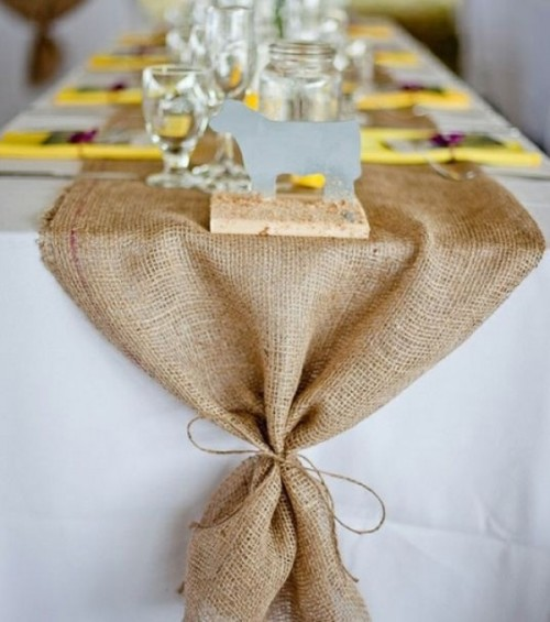 diy table  30 runner Table ideas Pretty Wedding Runner Ideas  Weddingomania