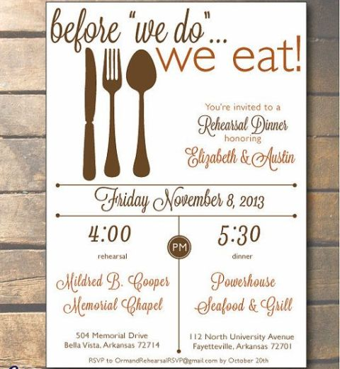 Cool Invitation Ideas For A Rehearsal Dinner