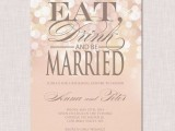 a romantic blush rehearsal dinner invitation with neutral letters and shiny detailin is a lovely and chic idea